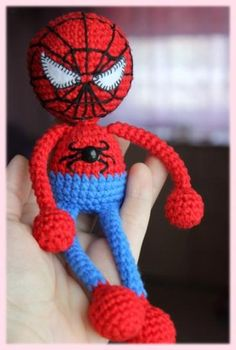Spiderman amigurumi free crochet pattern