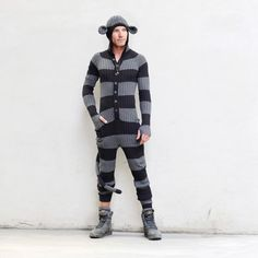 Don't know if I'd be able to pull it off, but it's epic. Monkey Striped Onesie, $165, now featured on Fab.