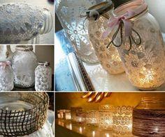Mason Jar Doiley Lanterns