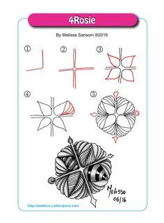 Wholehearted Zen Creations: 4Rosie Zentangle Pattern Deconstruction
