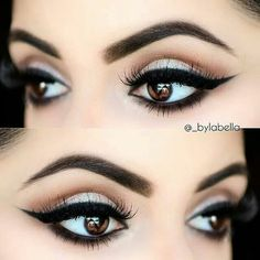 Bold liner, brown eyes, gorgeous brown eye makeup