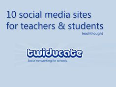 10 Social Media Sites For Education Social media is a great way to network and discuss topics. In the classroom for example, students could create a facebook group page for a class or study group. They could network, share ideas and links, and of course discuss the topic online.