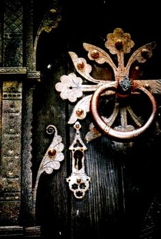 Detail of door hardware