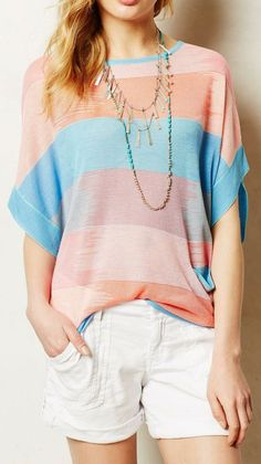 Anthropologie  Sol Stripe Pullover