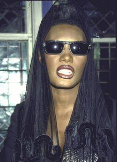 #gracejones Grace Jones, Jamaica, Jones Fashion, Francoise Hardy, Times Square, Vintage Black Glamour, Afro Punk, Dark Beauty, Celebs