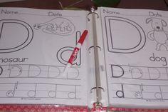 DIY Write and Wipe Preschool Worksheets