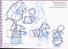 Planning sketches by Lisette Freire for the animation feature film Rodencia and the Princess Tooth
