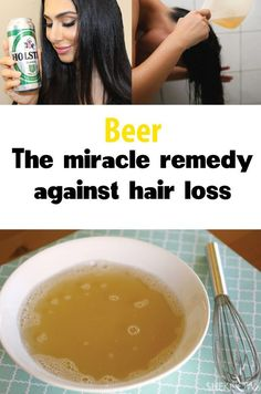A lot of women are having problems with hair loss. A beautiful and voluminous hair is every women's dream. In order to restore the shiny and healthy aspect of  your hair, exist a lot of products on the market. These products are not always very effective, this is why is suggest you some natural remedies that work 100%. The main ingredient from these remedies, is beer.