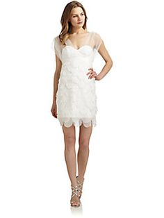 ABS - Tiered Scalloped Dress