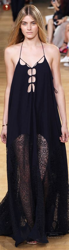LOVE THE DRESS...Legwear however is hideous.maybe with fishnets or nothing at all.Chloé.Spring 2015.
