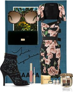 """DG WOMEN GIRLY FLORAL SET"" by mbaileydesigns on Polyvore"