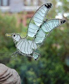 Sea glass seagull - so cool...