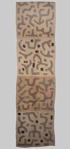 A fragment of a Kuba rafia applique skirt, Zaire late 20th century  Esther Fitzgerald Rare Textiles