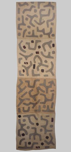A fragment of a Kuba rafia applique skirt, Zaire late 20th century - Esther Fitzgerald Rare Textiles