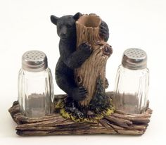 Black Bear Salt & Pepper Shaker Set