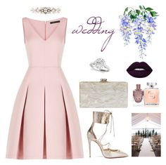 """""""wedding combine"""" by stylebyaren ❤ liked on Polyvore featuring BCBGMAXAZRIA, Christian Louboutin, Edie Parker and Dolce&Gabbana"""
