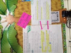 Text evidence bulletin.  This visual display helps students see the connections that must be made from their text, to their thinking, and into their writing responses.  This copy isn't the best because the ink in my cartridge was low, but it works.  We use the RACE strategy to formulate our written response answers.  R-restate, A-answer, C-cite evidence, E-expand!