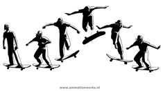 flash sequence skateboarding clip art - Google Search