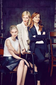 Elizabeth Debicki, Cate Blanchett and Isabelle Huppert, photo for The Maids - 01.