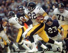 9eacfab587f Franco Harris, Pittsburgh Steelers Here We Go Steelers, Steelers Football,  Broncos, American