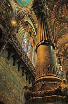 Pillar of the Earth,Fourvière Basilica, Lyon France