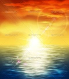 Sunset at Sea  #GraphicRiver         Natural background with sunset at sea. Illustration contains transparency and blending effects, eps 10     Created: 29April13 GraphicsFilesIncluded: JPGImage #VectorEPS Layered: No MinimumAdobeCSVersion: CS Tags: beach #beautiful #calm #climate #cloud #coast #color #dawn #dusk #horizon #landscape #light #nature #ocean #orange #reflection #relax #sea #sky #summer #sun #sunlight #sunrise #sunset #sunshine #tropical #twilight #vacation #water #weather