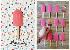 Juego de memoria de Popsicles o Paletas de Helado por Amy Moss deEat Drink Chic