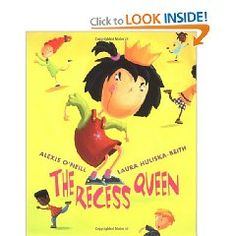 Recommended for ages 3-7: Mean Jean was Recess Queen and nobody said any different. Nobody swung until Mean Jean swung. Nobody kicked until Mean Jean kicked. Nobody bounced until Mean Jean bounced. If kids ever crossed her, she'd push 'em, smoosh 'em  lollapaloosh 'em, hammer 'em, slammer 'em kitz and kajammer 'em.  Until a new kid came to school!  With her irrepressible spirit, the new girl dethrones the reigning recess bully by becoming her friend in this infectious playground romp.