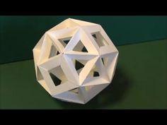 """サッカーボール風ユニット折り紙 作り方""""Football""""Origami - YouTube"""