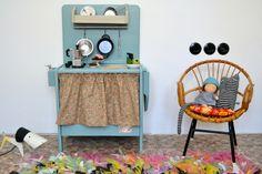 Wooden toy kitchen. #woodentoy #woodenkitchen #macarenabilbao