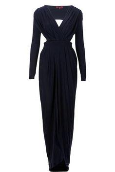 navy blue maxi dress