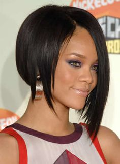 asymmetric hairstyle ... I like this one alot!  :)