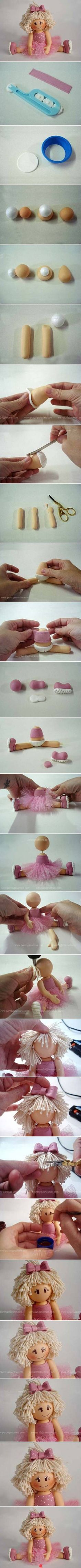 clay adorable little girl ballerina...w/photo tutorial