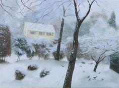 Nicholas Hely Hutchinson (b.1955) — A Garden in the Snow (800x596)