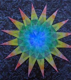 The Forest Room: Let's Make a Handpainted Window Star! (great if you dont' have kite paper just use wax paper)