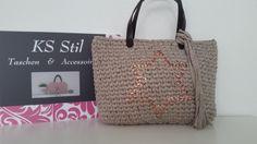 Tasche Damentasche Bag Borsa Trapillo 100% Handmade Design Top Neu von KSStil auf Etsy