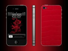 FL Luxury Product iPhone 4 alligator red Iphone 4, Luxury, Red, Leather