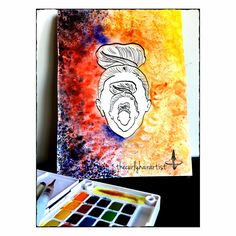 There are moments when your imagination is so strong, that you wonder how the outcome of imagination is less real than the outcome of sight, feel and sound   #inception #sketching #watercolor #colorful #totem #humanface #mirroreffect