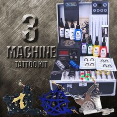 3 Machine Artists Tattoo Kit