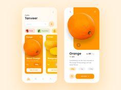 Grocery App Concept Design - Set 2 on Behance Web Design, Website Design Layout, App Ui Design, Mobile App Design, Design Set, Best App Design, Mobile App Ui, Android App Design, Mobile Application Design