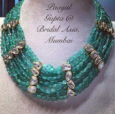 kundan meena Weird Jewelry, Jade Jewelry, India Jewelry, Royal Jewelry, Jewelry Model, Indian Jewellery Design, Jewelry Design, Beaded Necklace, Beaded Jewellery