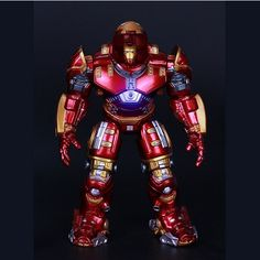 Super Hero Ideas Tron iron Man Hulkbuster robot Spiderman Captain America-nobox