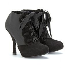 mytheresa.com - Dolce & Gabbana - LACE UP SUEDE TRIMMED ANKLE BOOTS - Luxury Fashion for Women / Designer clothing, shoes, bags