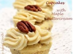 Butter Pecan Mini Cupcakes #recipe #cupcake #butterpecan
