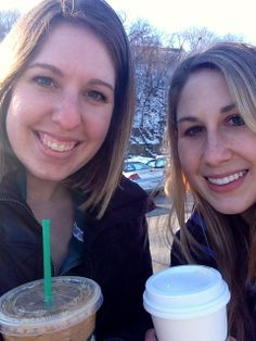 Senior Year-One of my best friends, Emily Thomas, and I on one of our many Starbucks runs. We've been going to Starbucks together since freshman year, but have never taken a picture until senior year. #starbucksselfie