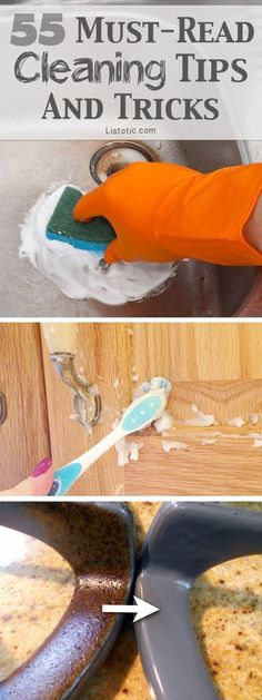 DIY household cleaning tips, tricks and hacks for your home bathrooms, kitchens, bedrooms, floors, furniture and more! Perfect for a lazy girl like me. Listotic.com
