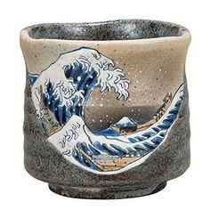 Kutani Yaki(ware) Japanese Yunomi Tea Cup Hokusai #Kutani