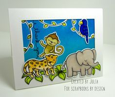 Lawn Fawn Critters In The Jungle card created by Julia for Scrapbooks By Design