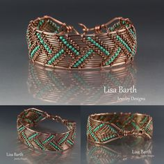 Here is a bracelet I just made using the techniques from the book I wrote. If you'd like to learn how to do this, you sure can. Here is the link so you can see the book: http://www.amazon.com/Timeless-Wire-Weaving-Complete-Course/dp/1627000763/ref=sr_1_1?ie=UTF8&qid=1407288793&sr=8-1&keywords=timeless+wirework