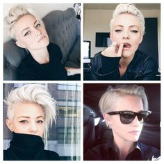 love the versatile Edgy Haircuts, Celebrity Haircuts, Pixie Hairstyles, Pretty Hairstyles, Chic Short Hair, Short Hair Cuts, Short Hair Styles, Brittenelle Fredericks, Pixie Mohawk